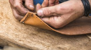 Usage of various tools for the production In Leather Workshop Singapore